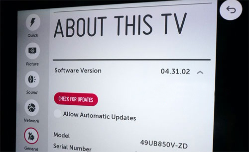 آموزش مراحل آپدیت کردن تلویزیون های ال جی
