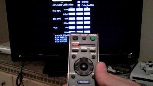 منوی مخفی تلویزیون LCD،LED سونی